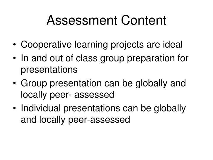 Assessment Content