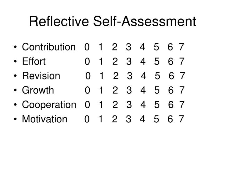 Reflective Self-Assessment