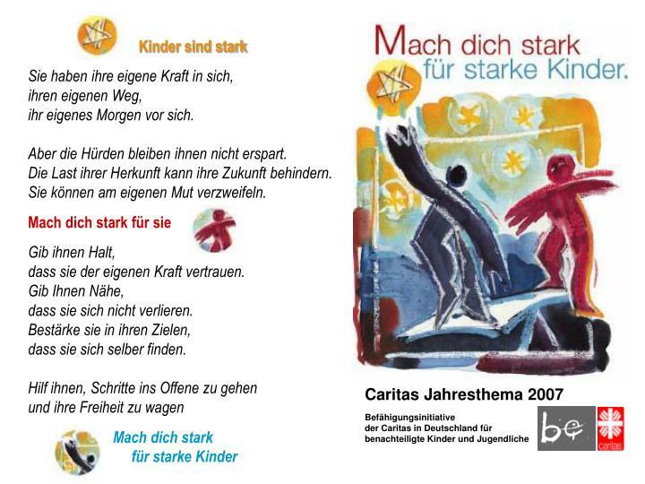 Caritas Jahresthema 2007