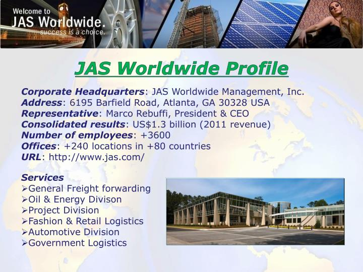 JAS Worldwide Profile