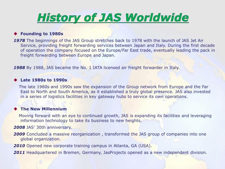 History of JAS Worldwide