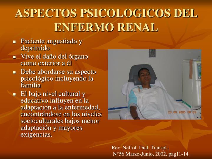ASPECTOS PSICOLOGICOS DEL ENFERMO RENAL