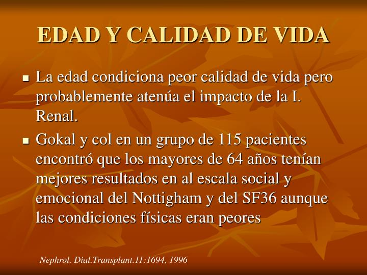 EDAD Y CALIDAD DE VIDA