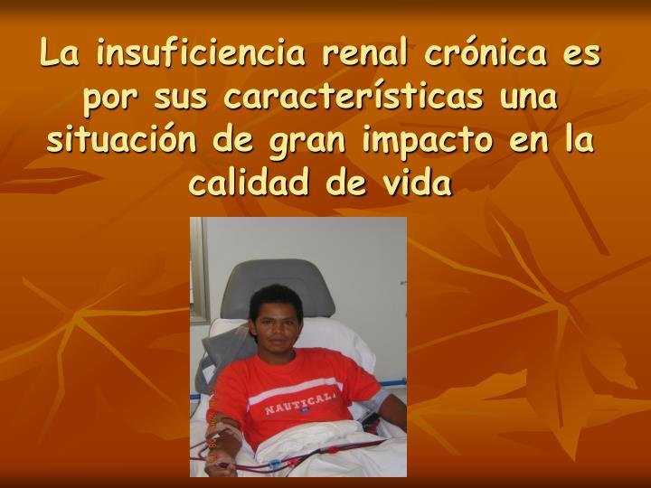 La insuficiencia renal crónica es por sus características una situación de gran impacto en la calidad de vida