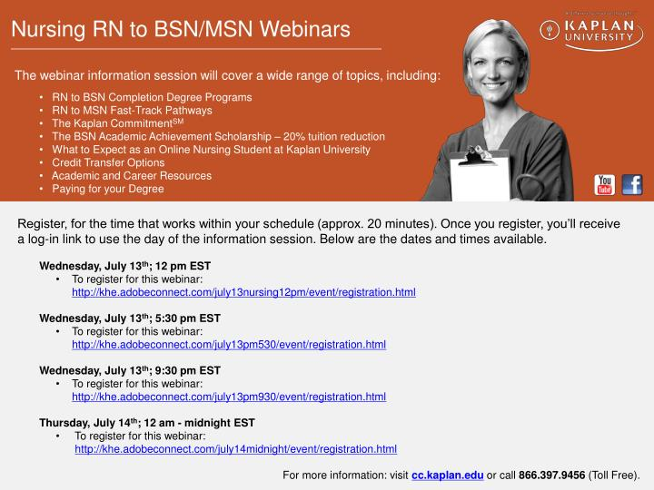 •   RN to BSN Completion Degree Programs