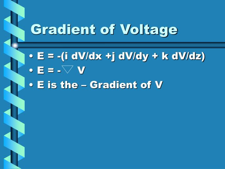 Gradient of Voltage