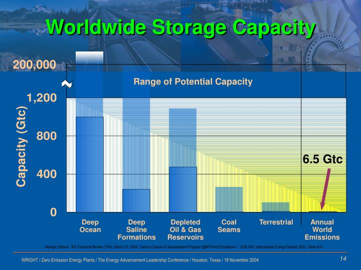 Worldwide Storage Capacity
