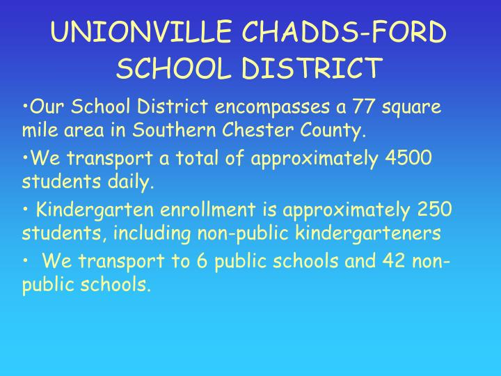 UNIONVILLE CHADDS-FORD