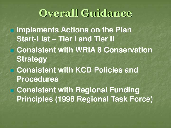 Overall Guidance