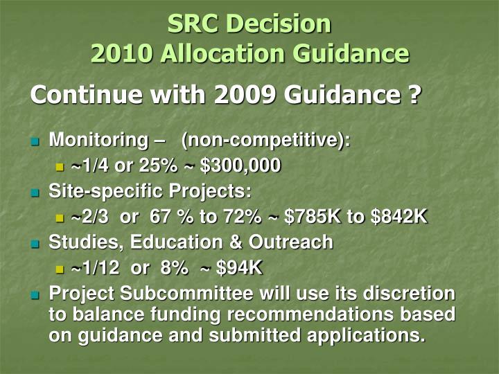 SRC Decision
