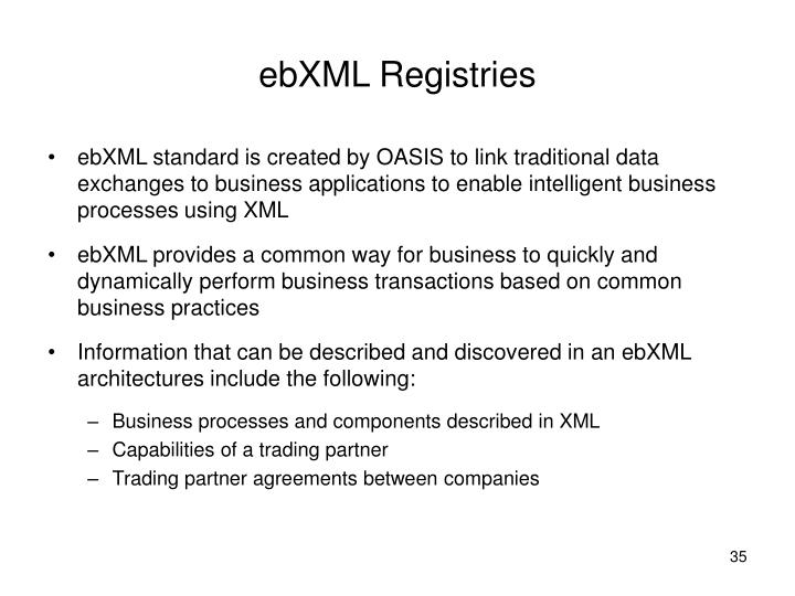 ebXML Registries