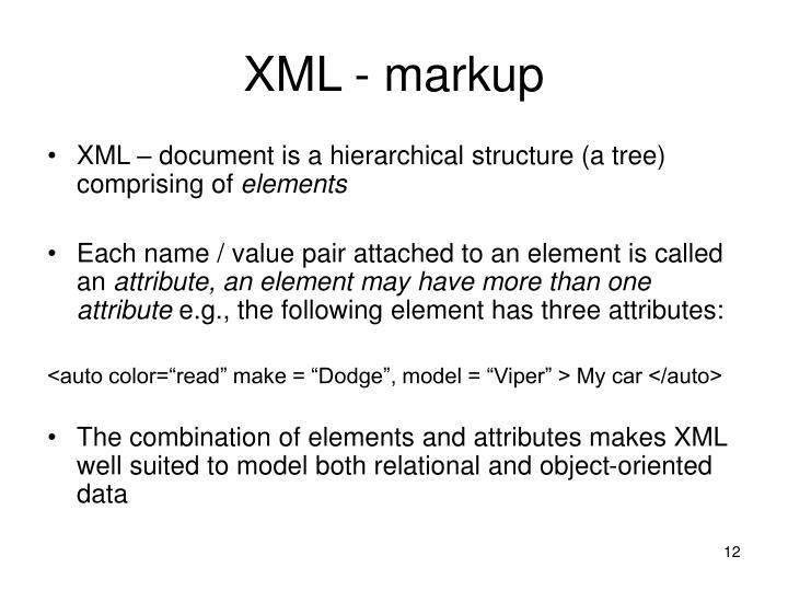 XML - markup