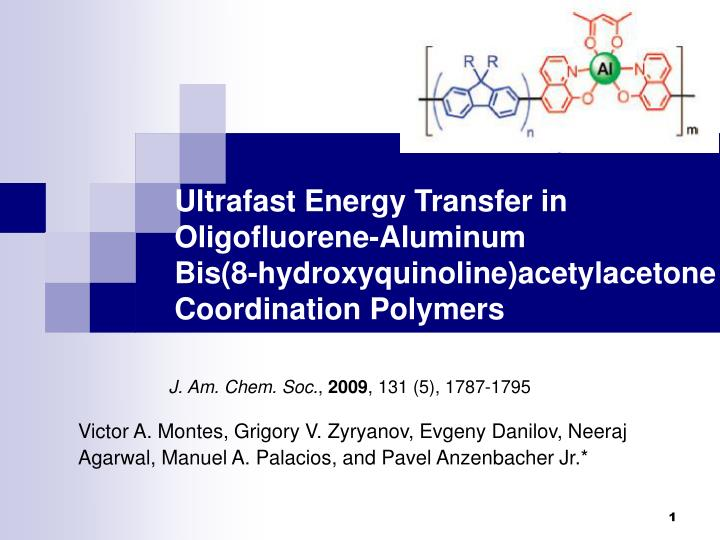 Ultrafast Energy Transfer in