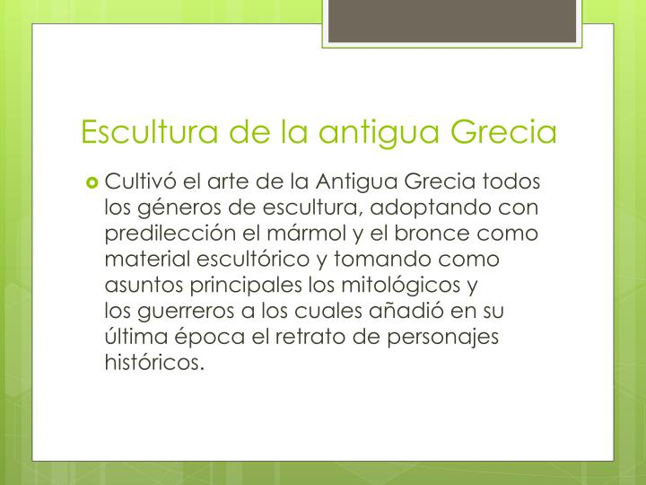 Escultura de la antigua Grecia