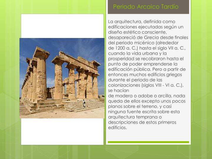 Periodo Arcaico Tardío