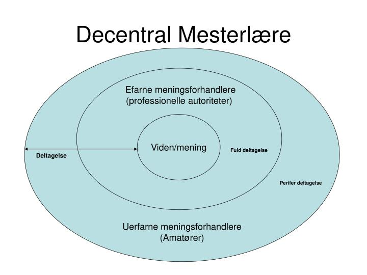 Decentral mesterl re