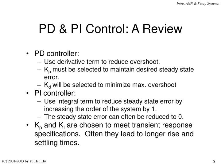 PD & PI Control: A Review