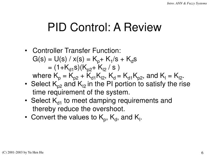 PID Control: A Review