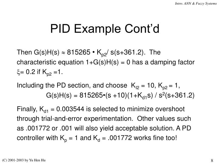 PID Example Cont'd