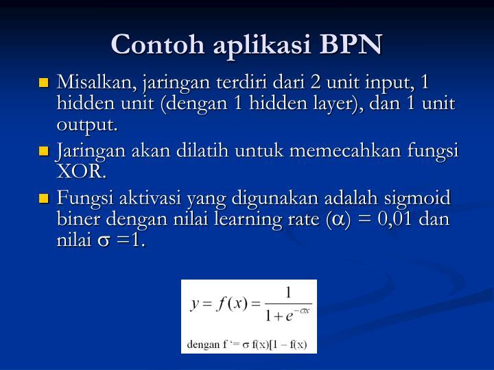 Contoh aplikasi BPN