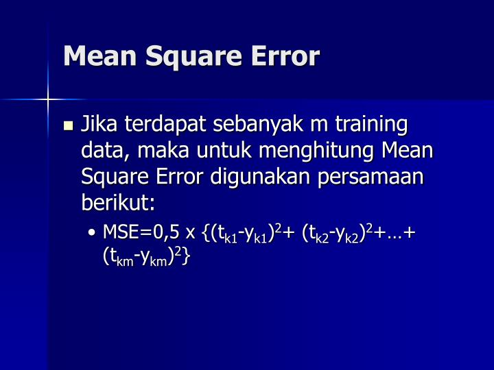 Mean Square Error