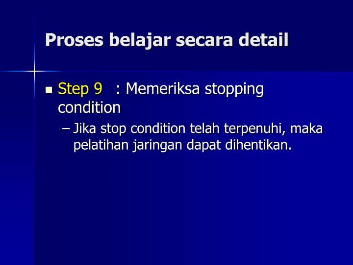 Proses belajar secara detail