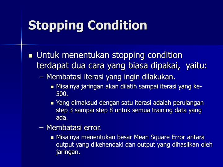 Stopping Condition
