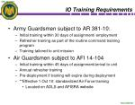 io training requirements