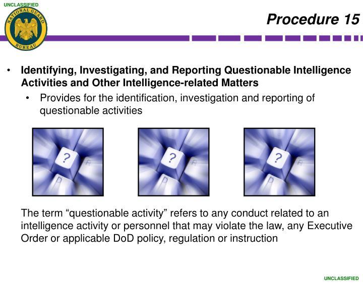 Procedure 15