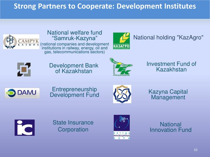 Strong Partners to Cooperate: Development Institutes