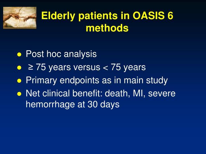 Elderly patients in OASIS 6