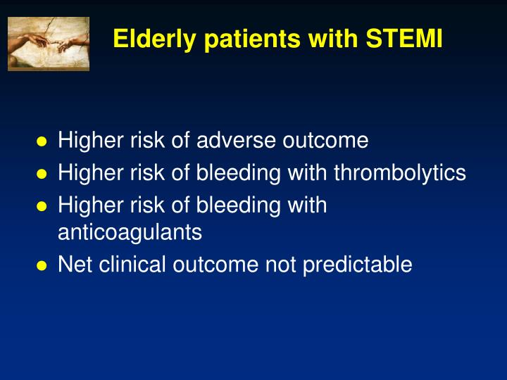 Elderly patients with STEMI
