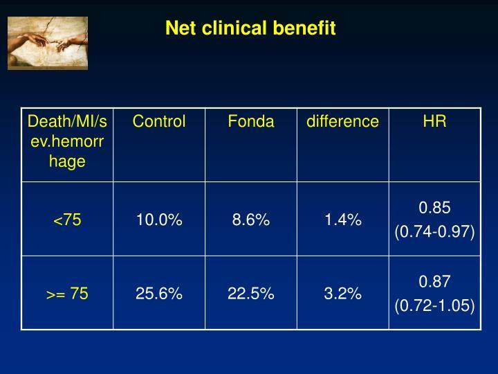 Net clinical benefit