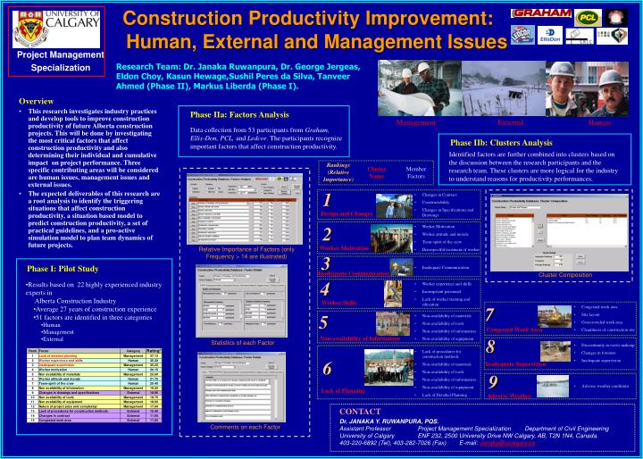 Construction productivity improvement