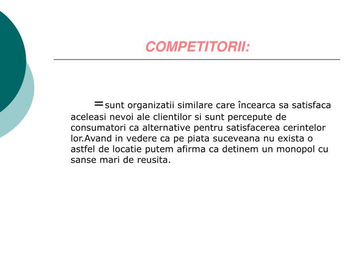 COMPETITORII:
