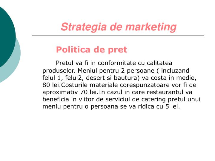Strategia de marketing
