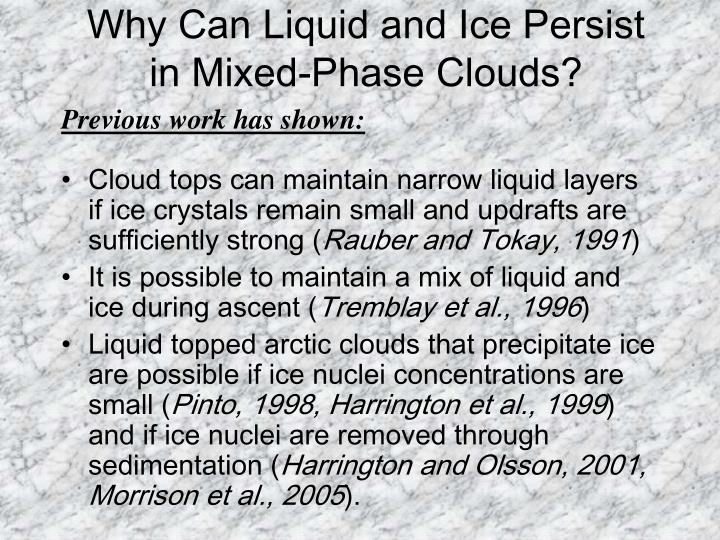 Why Can Liquid and Ice Persist in Mixed-Phase Clouds?