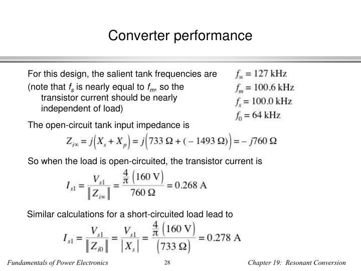 Converter performance