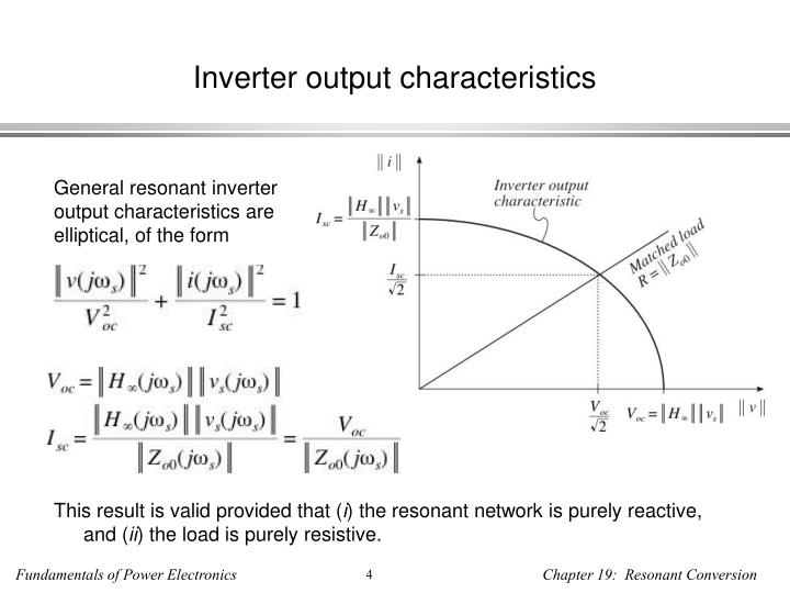 Inverter output characteristics