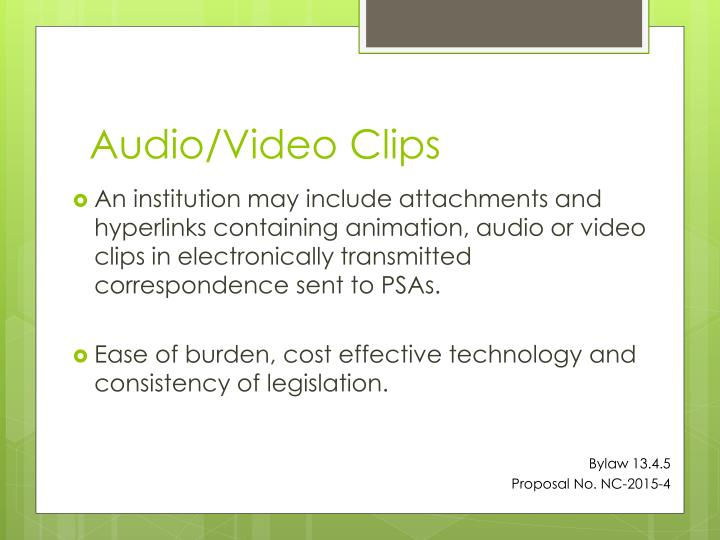 Audio/Video Clips