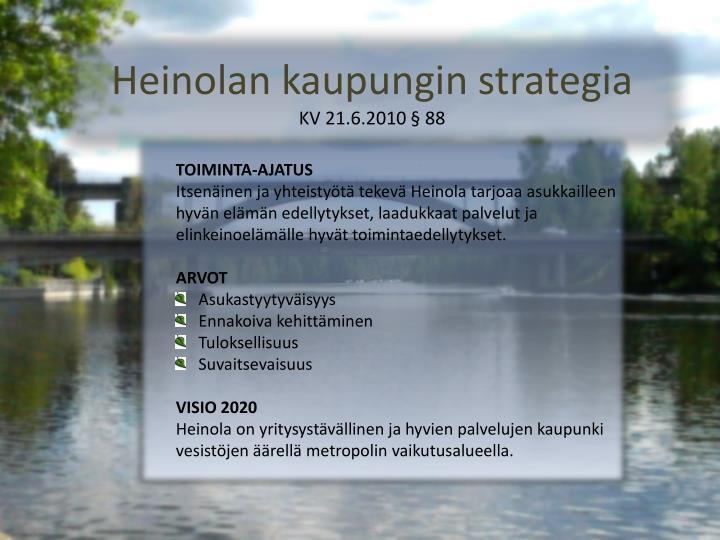 Heinolan kaupungin strategia