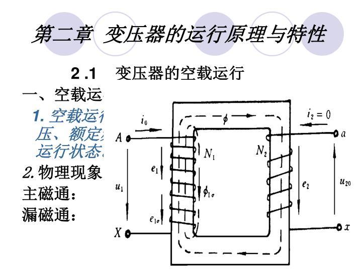 第二章  变压器的运行原理与特性