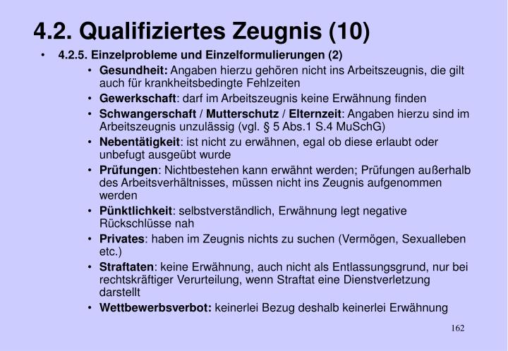 4.2. Qualifiziertes Zeugnis (10)