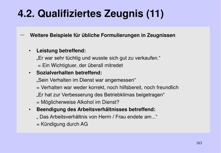 4.2. Qualifiziertes Zeugnis (11)