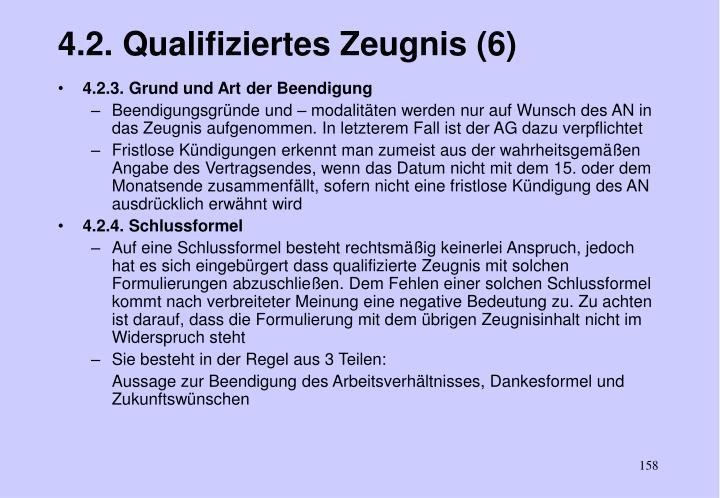 4.2. Qualifiziertes Zeugnis (6)