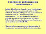 conclusions and discussion y n saturation due to dr 0