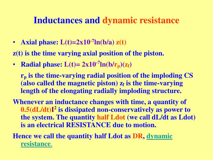 Inductances and