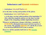 inductances and dynamic resistance