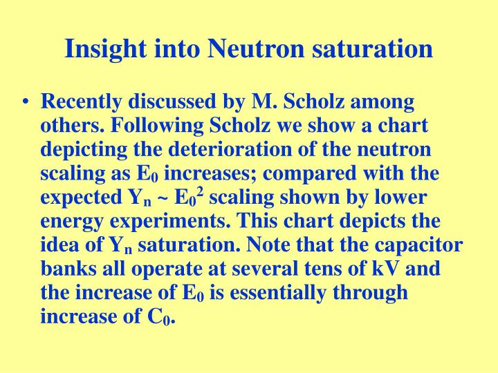 Insight into Neutron saturation