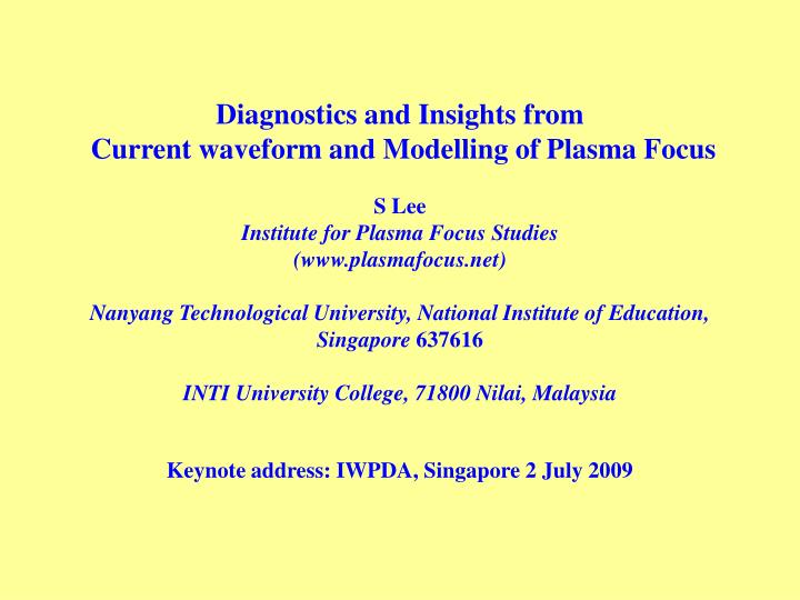 Keynote address iwpda singapore 2 july 2009